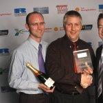 Jonathan & Patrick receive the 2003 MIA Award for Technology & Innovation January 2004.