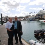 Jonathan & Anna watch the Heights of Abraham Powerboat perform